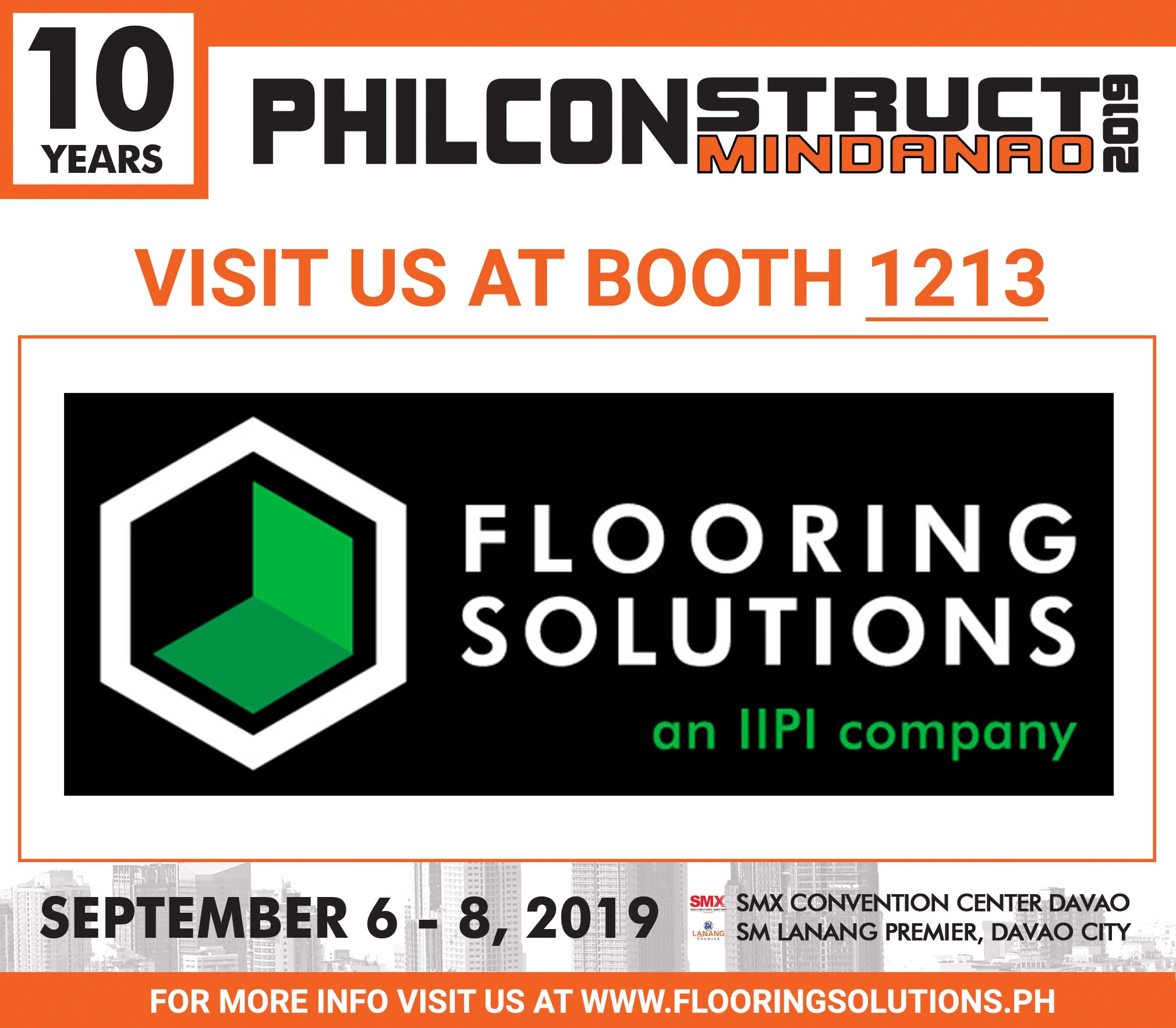 Flooring Solutions Philippines at 10th year anniversary of the PHILCONSTRUCT 2019 in Mindanao