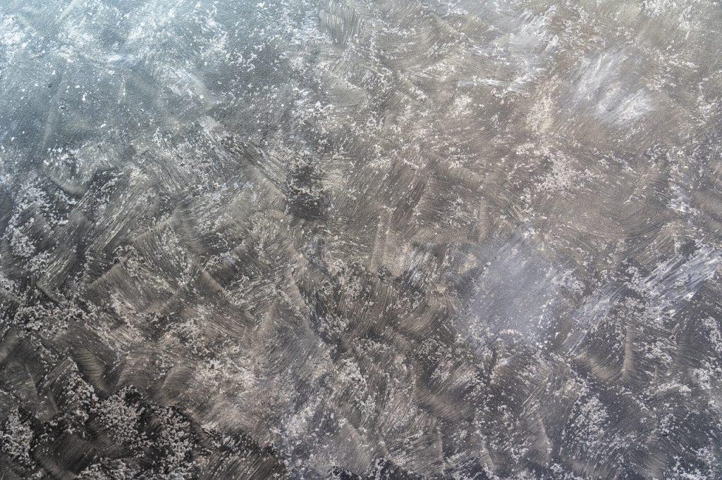 Close-up picture of metallic epoxy flooring