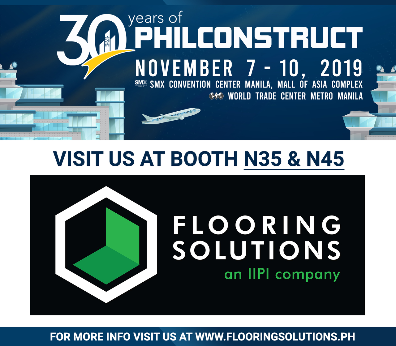 Poster for PHILCONSTRUCT 2019 by Flooring Solutions