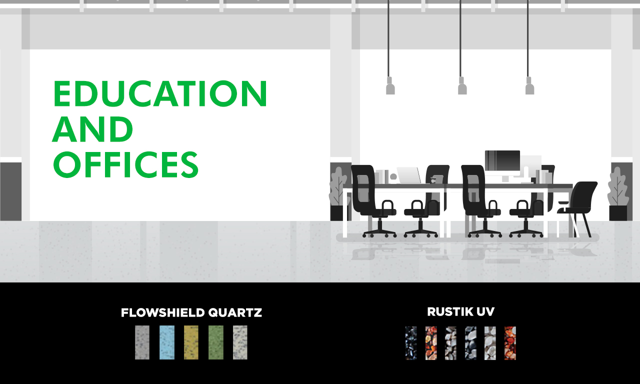 Graphic of office flooring