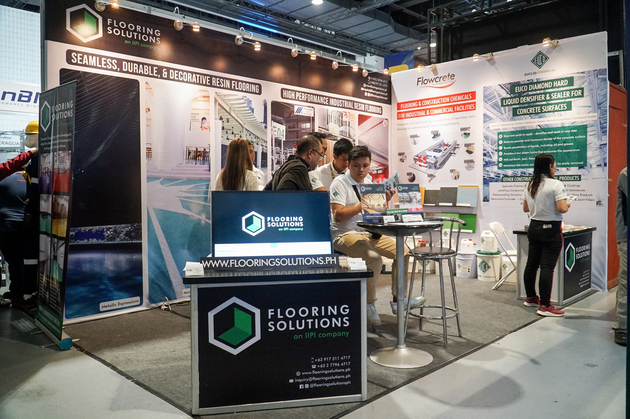 Front view of the Flooring Solutions booth at PHILCONSTRUCT 2019