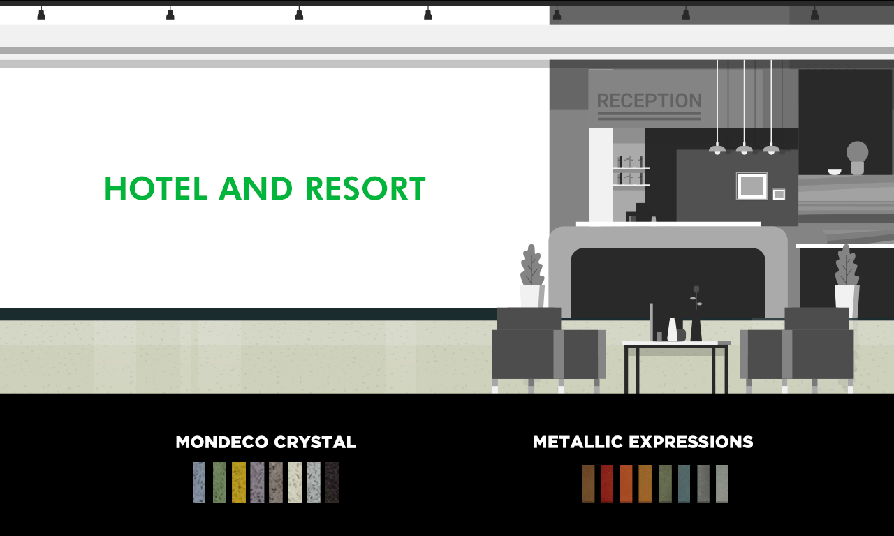 Graphic of a hotel