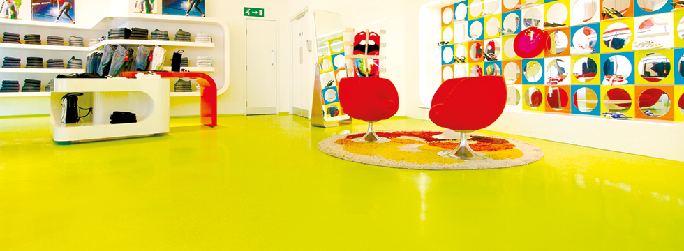 Decorative flooring in a commercial space