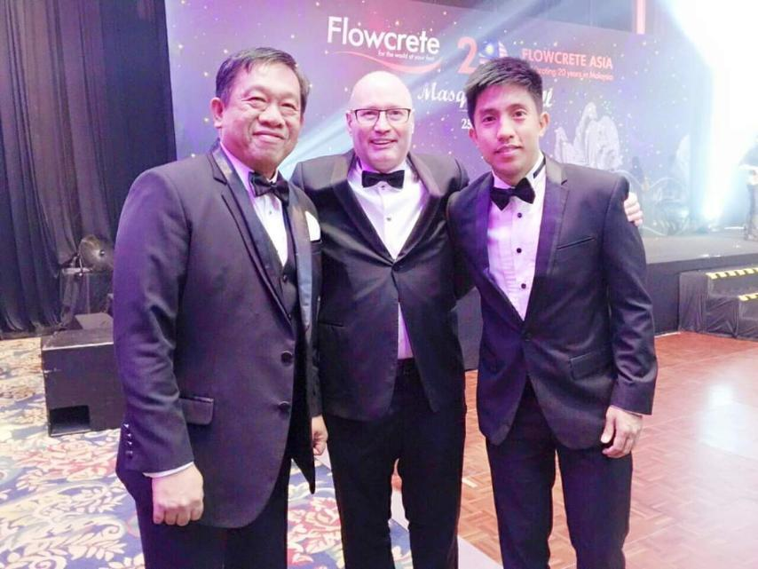 IIPI President with Flowcrete Philippines Country Manager and Flowcrete Group Ltd President