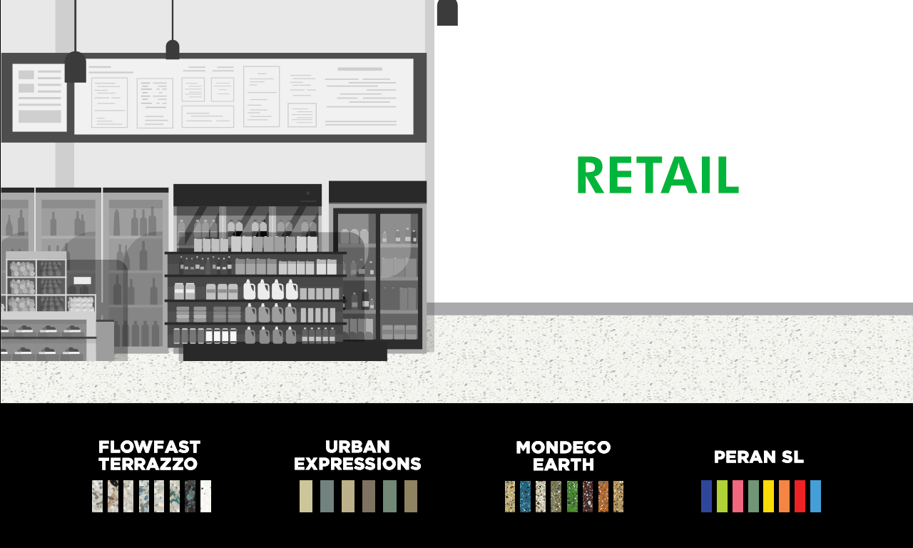 Graphic of a retail store