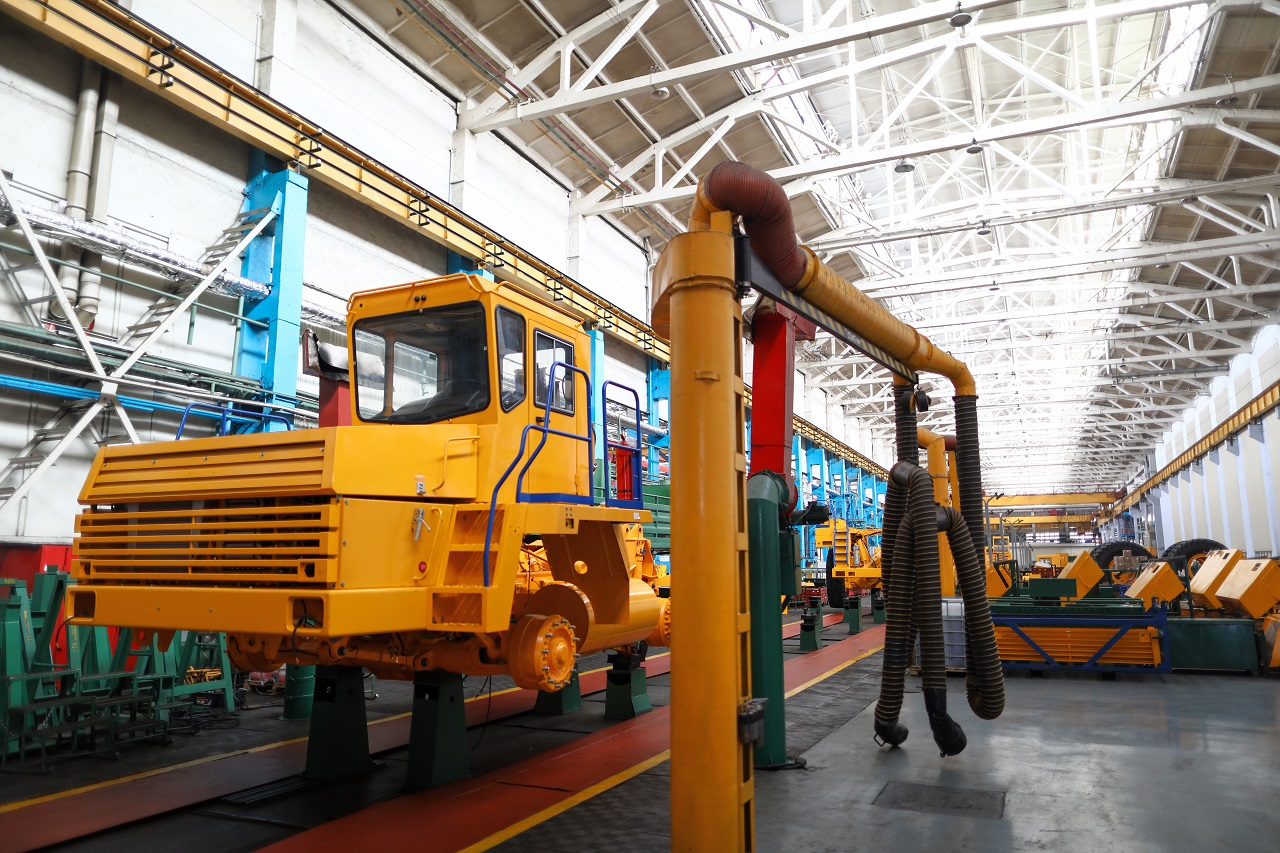 An automotive manufacturing company for construction machines