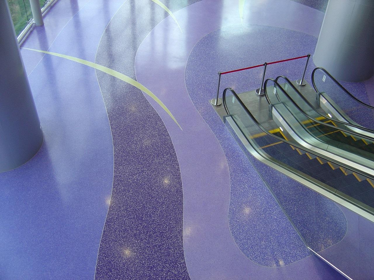 Purple epoxy flooring