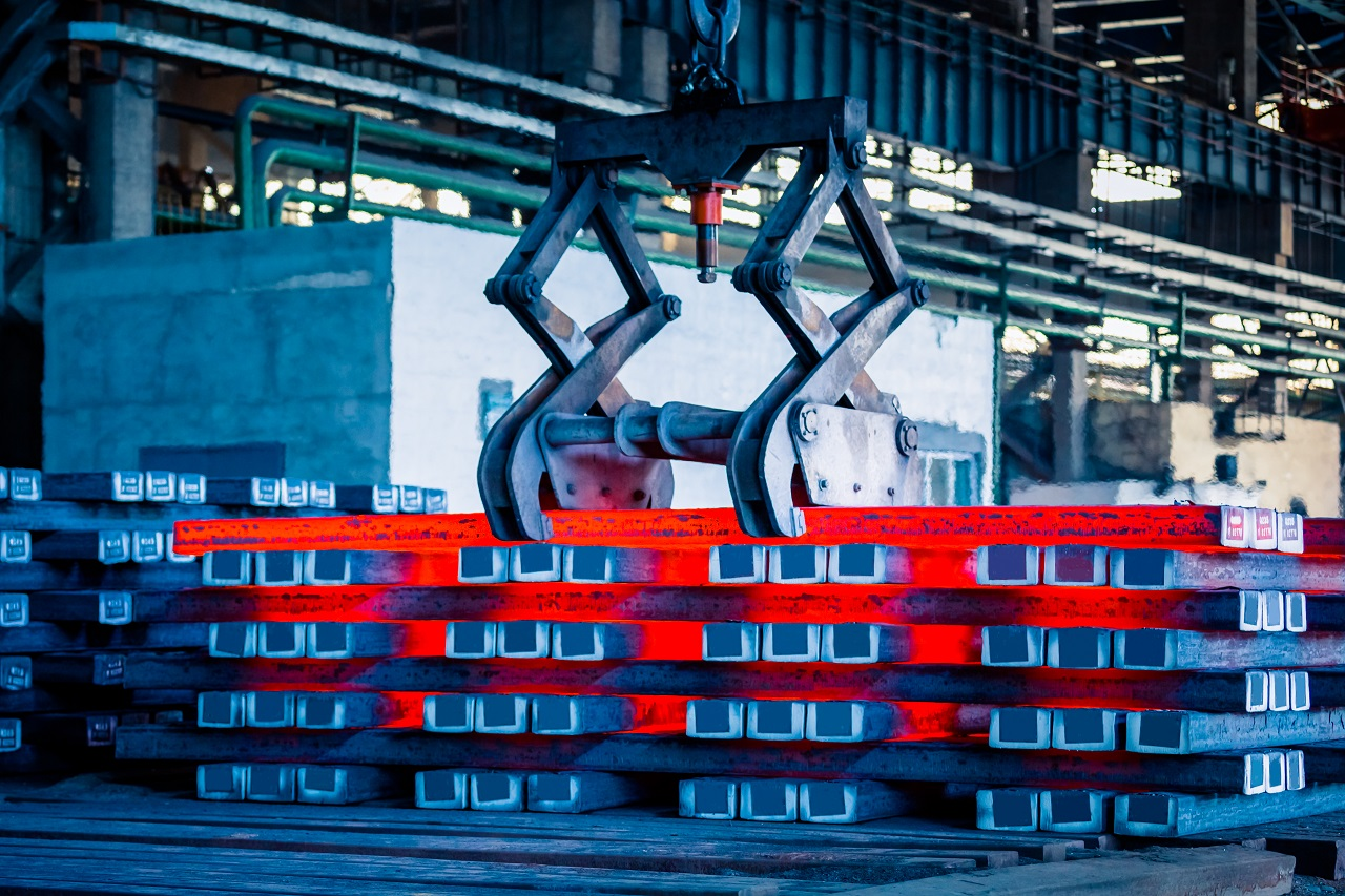 A manufacturing factory for steel