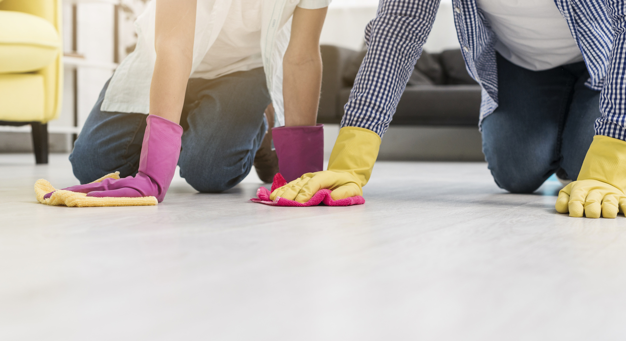 Disinfecting home floors