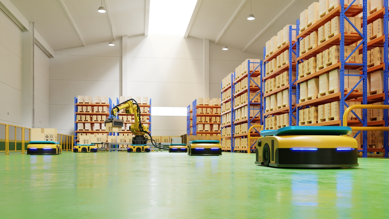 Storage facility with polyurethane mortar flooring
