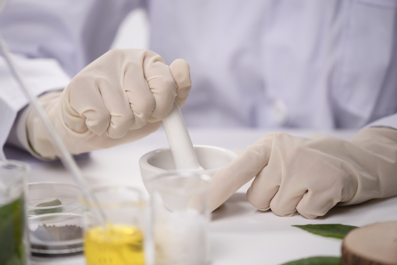 Ingredients in a pharmaceutical factory