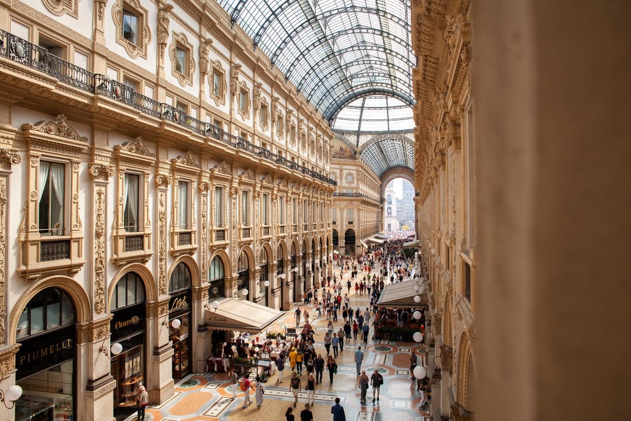 A crowded mall